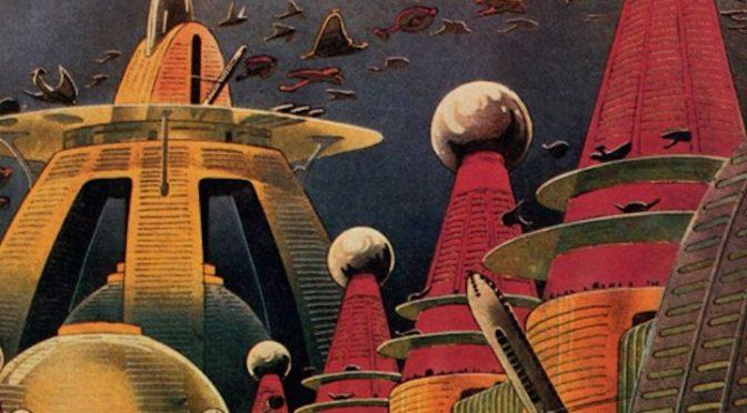 Poster SF, Ville futuriste