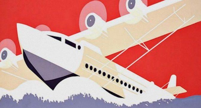 Affiche vintage, Aéroports de New York