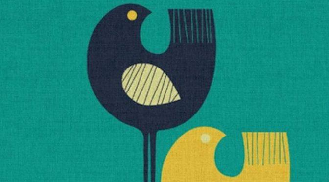 Wading Birds – Poster minimaliste