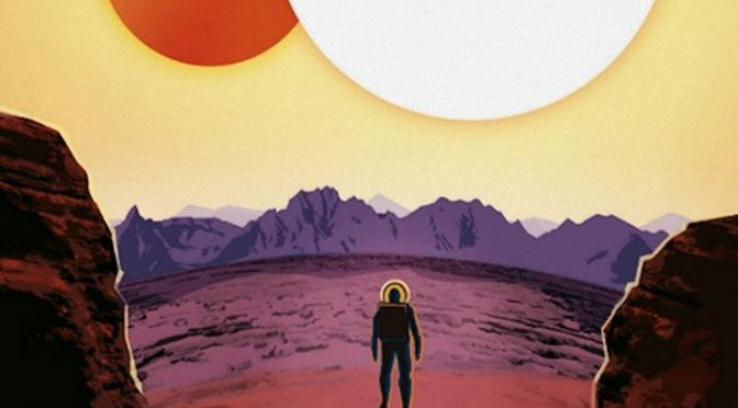 Poster, Tourisme spatial, Exoplanète Kepler-16b